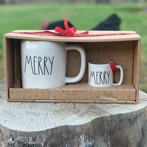 Rae Dunn Christmas ornament mini mug set